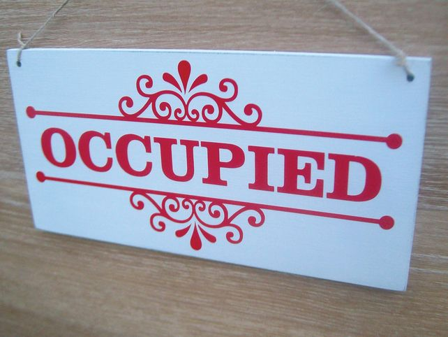 Occupied Vacant Double Sided Sign Ideal For Bathroom Doors Bathroom Doors Bathroom Signs Painted Signs