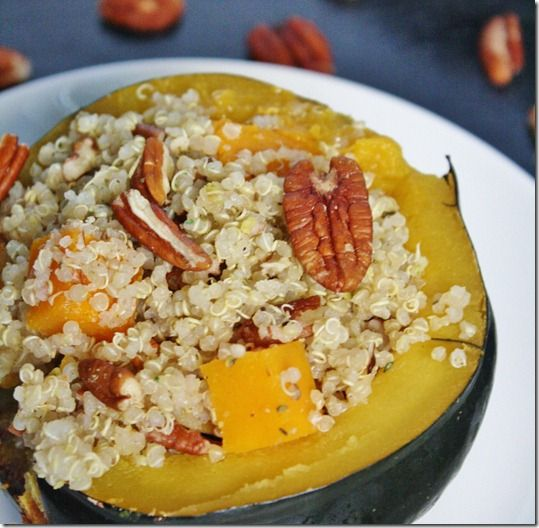 Quinoa Pecan Stuffing with Butternut Squash