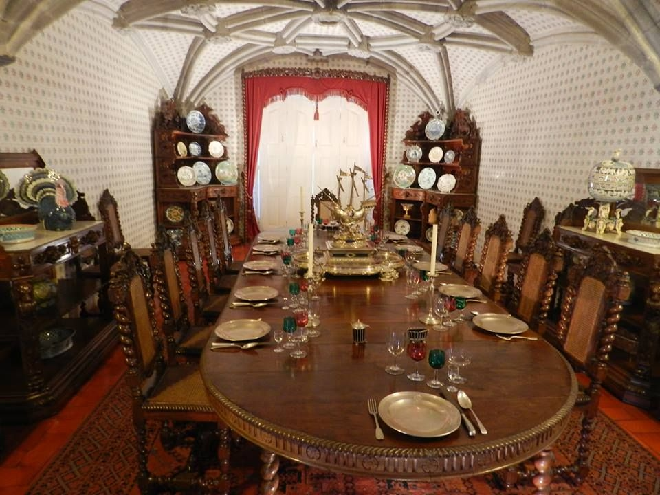 Pena Castle Dining Room  Sintra  Portugal  Pinterest  Castles Beauteous Castle Dining Room Decorating Design
