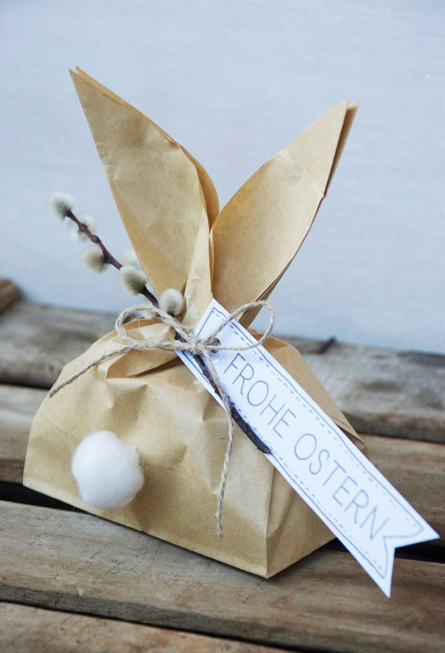 bunny gift bag lent easter memories pinterest bunny