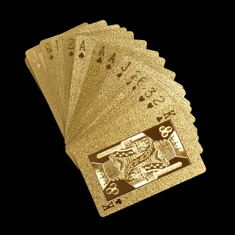 Gucci Plated Gold monogram Plastic Texas Poker Playing Card/ game ...