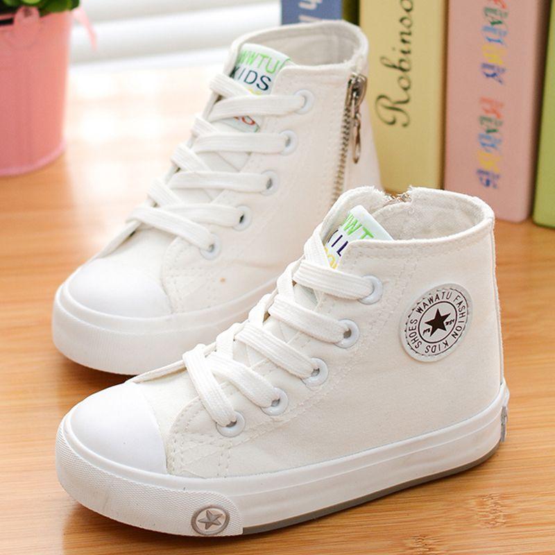 2015 Wiosna I Jesienia Dziecko Brezentowych Butow Biale Wysokie Trampki Buty Sportowe Buty Meskie B High Sneakers Shoes Girls Casual Shoes Girls Shoes Sneakers