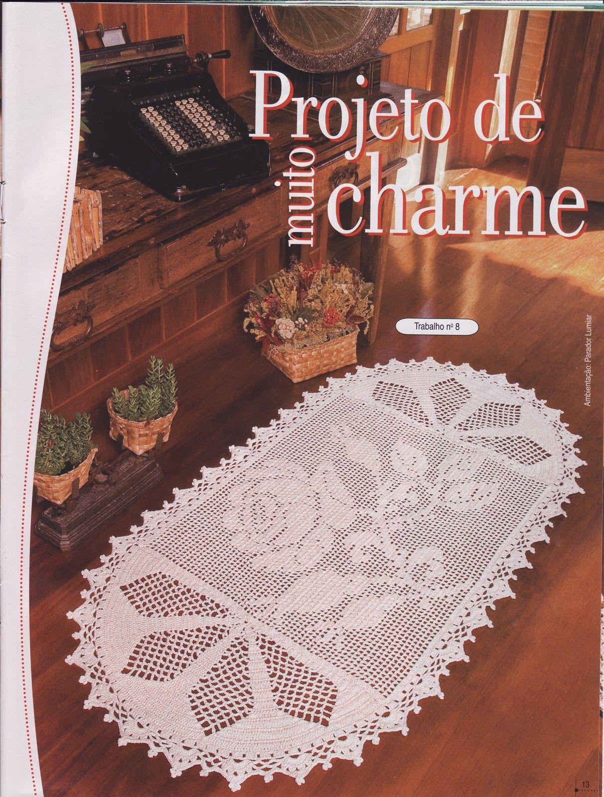 Feitos Por Mim By Lu Rontani Tapetes De Croch Para Quarto Ou Sala  -> Tapetes De Croche Para Sala