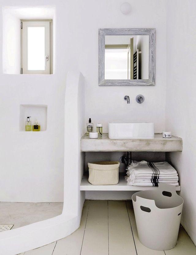 Echappée en Grèce Design, Salle de bains et Salle - Repeindre Du Carrelage De Salle De Bain