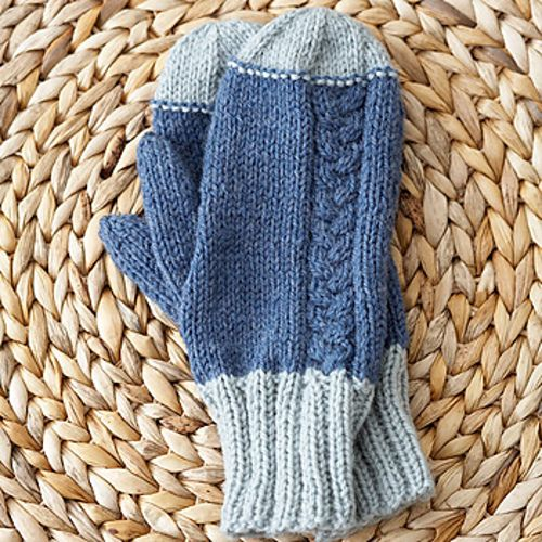 Off Set Cable Mittens By Patons Free Knitting Mittens