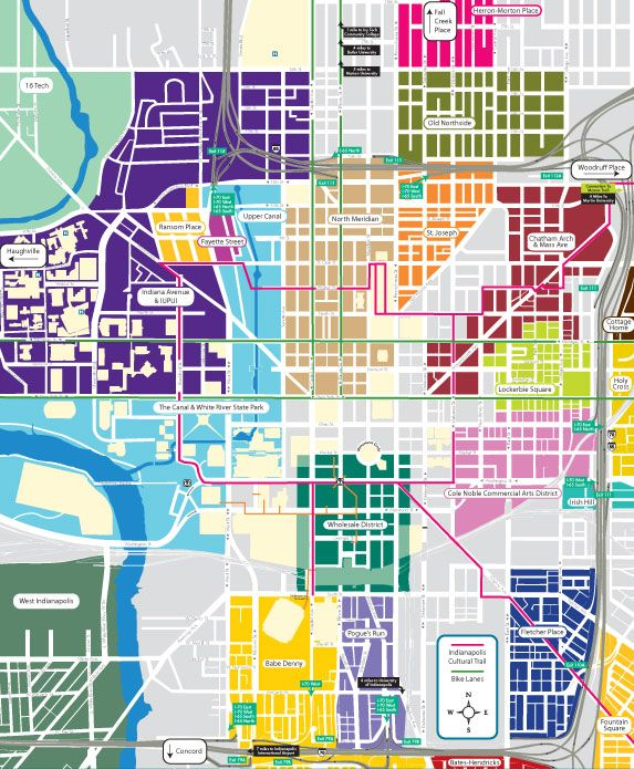 A Colorful Map Of Downtown's Neighborhoods.