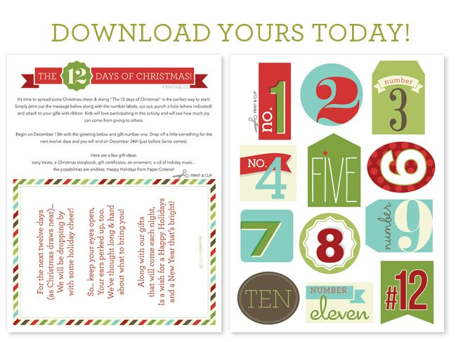How Many Days Of Christmas Are There.Free 12 Days Of Christmas Countdown Cards Sooo Cute