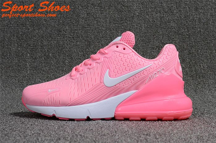 2018 New Releases Nike Air Max 270 KPU Womens Shoes For Cheap Pink White a4e6b927e7