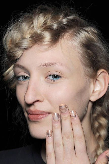 Subtle fashion nail art from Creatures of the Wind