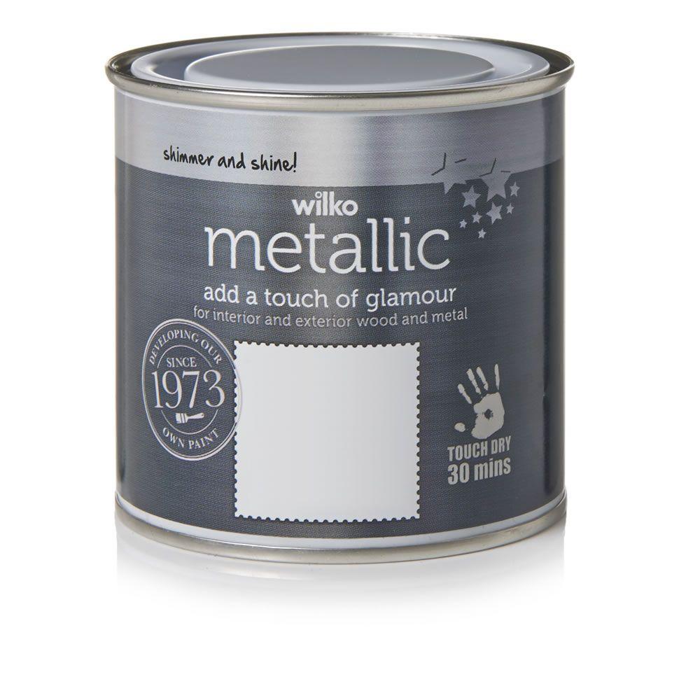 Silver Metallic Wood And Metal Paint 250ml Wilko Paint