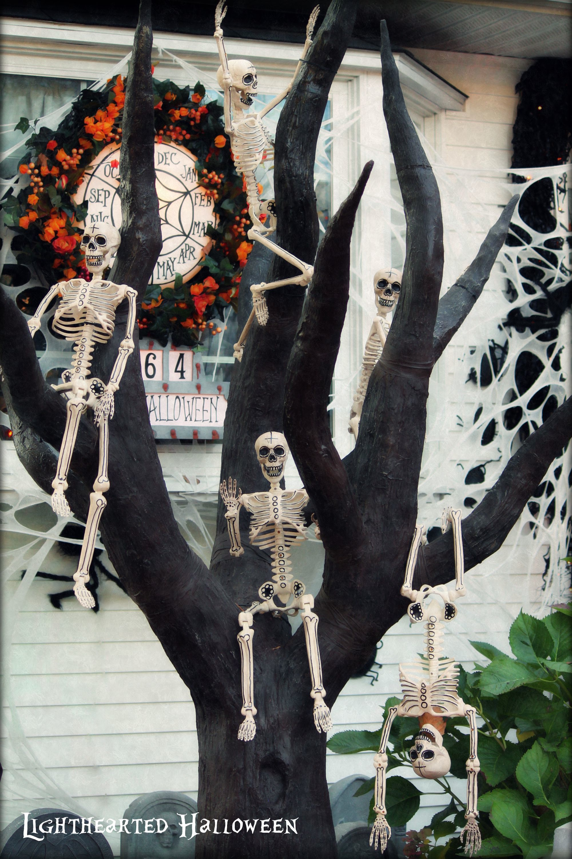 Nightmare Before Christmas Skeleton Tree, Lighthearted Halloween ...