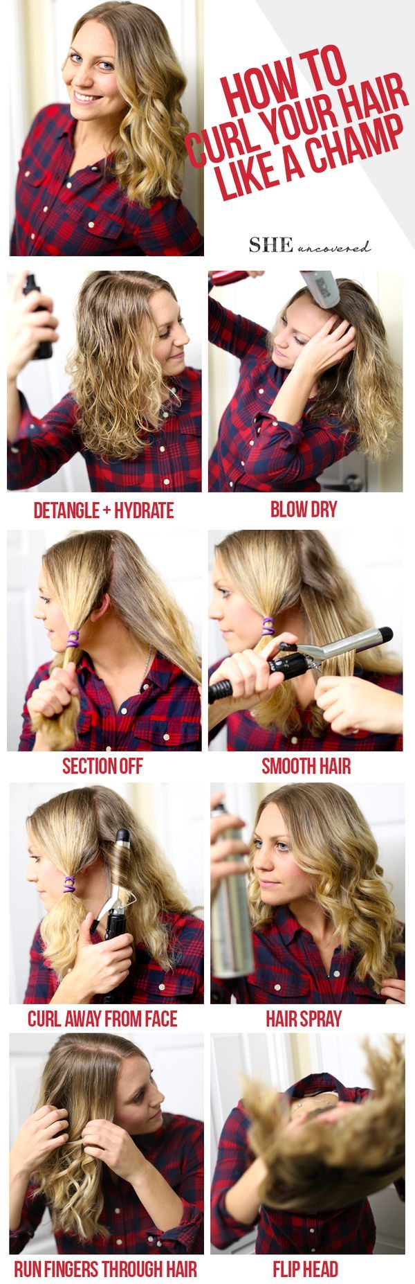 30 Tricks for Curling Your Hair with a Curling Ironer, Straightener Flat Iron