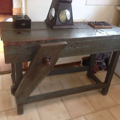 Amazing Vintage Solid Wooden Carpenters Workbench Work Bench Andrewgaddart Wooden Chair Designs For Living Room Andrewgaddartcom