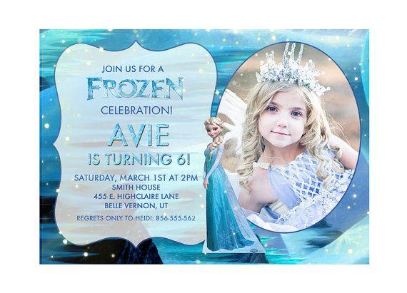 Disney Frozen Printable Birthday Party Invitation Princess Elsa on - invitation birthday frozen