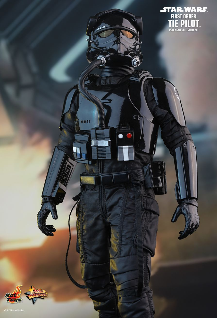 hot toys star wars the force awakens first order tie pilot 1 6th scale collectible figure. Black Bedroom Furniture Sets. Home Design Ideas