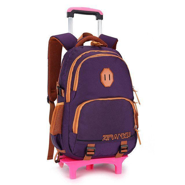 2d68b98cdd 2 6 Wheels Children School bags Students Trolley Backpack Boys Girls Rolling  Luggage Travel Bag on wheels Bagpack Women Bolsas