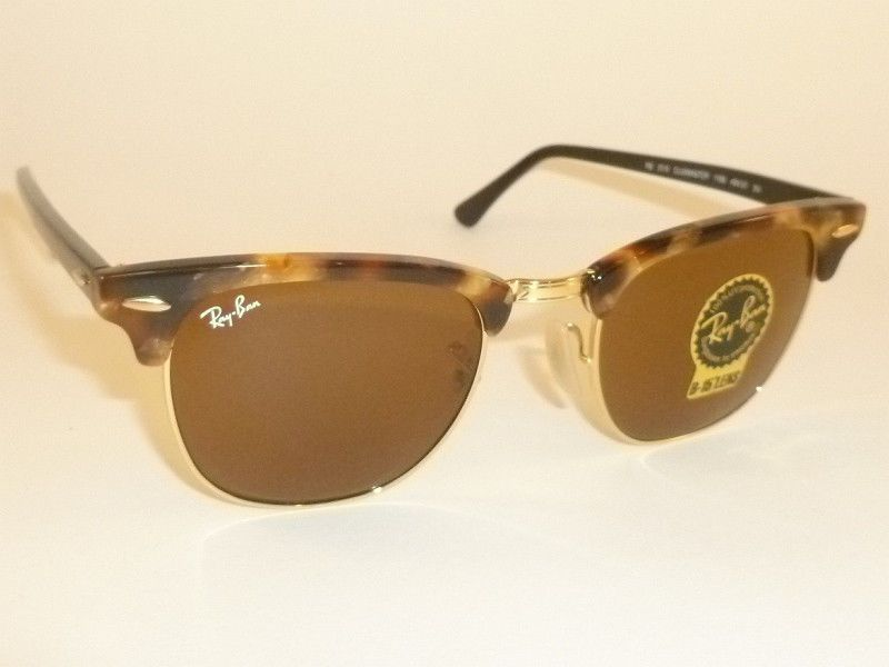 954952a264 ... coupon code for new ray ban clubmaster tortoise frame rb 3016 1160 b 15  brown lenses