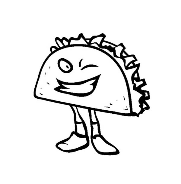 Junk Food Sandwich Winking Coloring Page Download Print Online Coloring Pages For Free Color Nim Food Coloring Pages Coloring Pages Online Coloring Pages