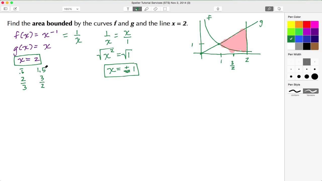 In this tutorial learn how to find the area between curves