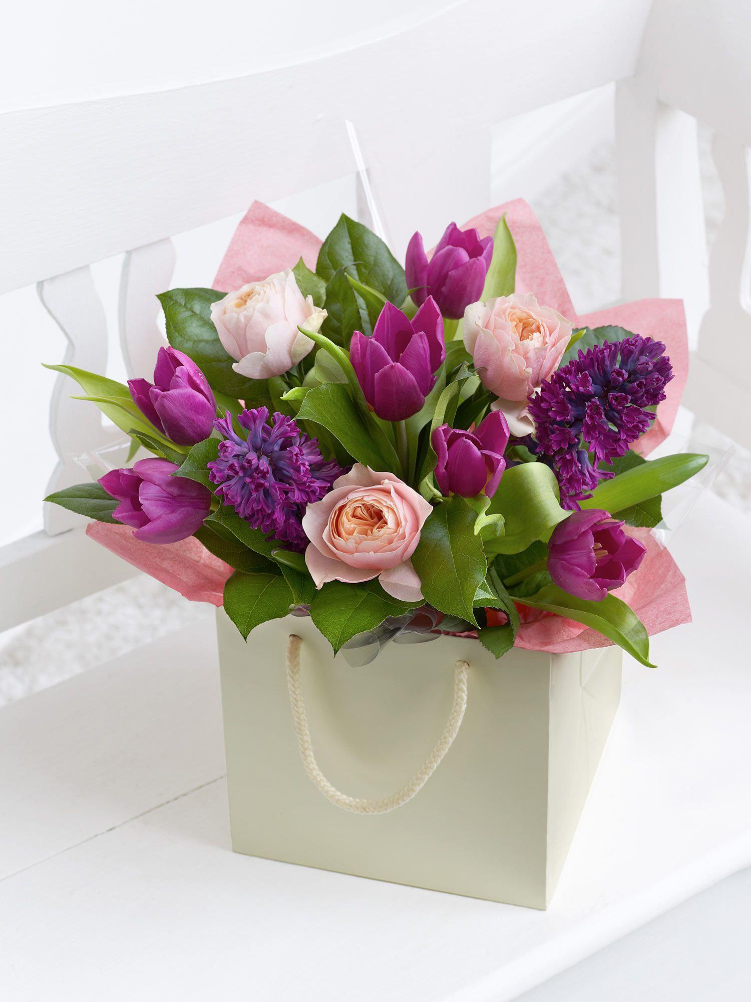Myinterfloramum Rose And Tulip Gift Bag Flower Pinterest