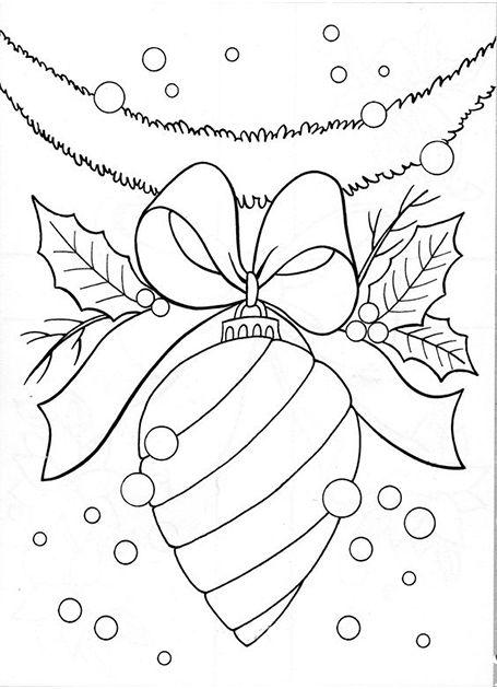 Новогодние раскраски с елочными игрушками | Паперові квіти ...