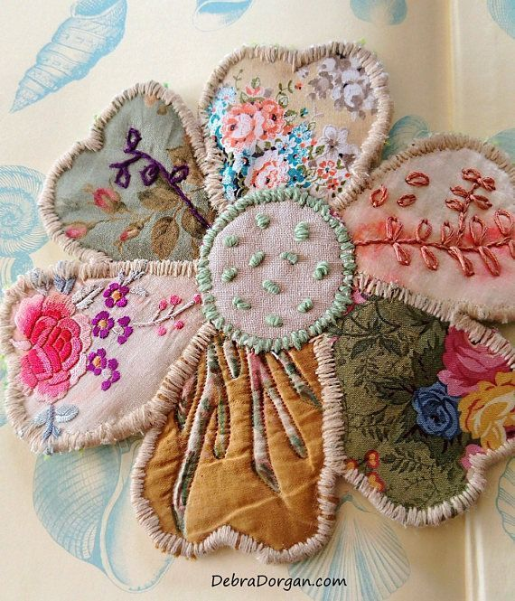 24 Best Vintage Rustic Images On Pinterest: Large Patchwork Flower Kit, Hand Sewing, Beautiful