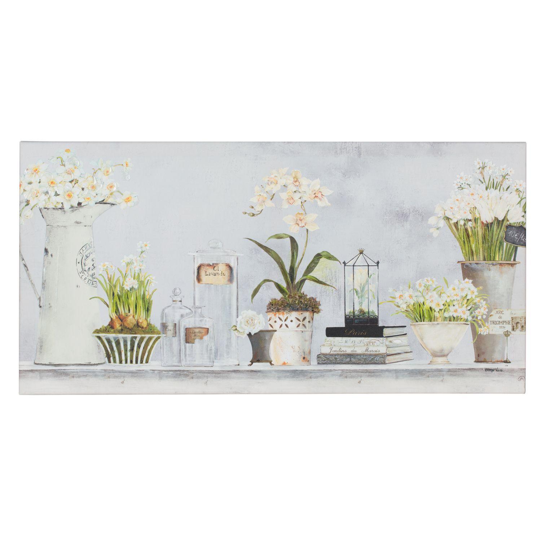 Kathryn White Botanical Flowers Canvas Flower Canvas White Canvas Art Botanical Flowers Kathryn white canvas art