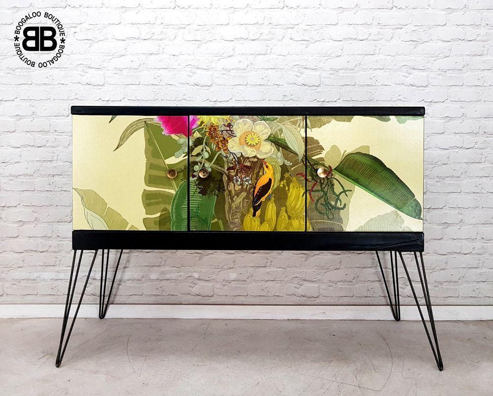 stunning professionally upcycled midcentury sideboard tv