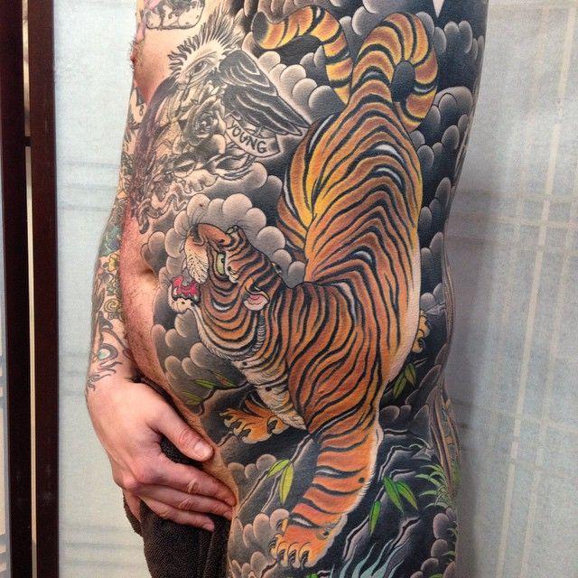 Tebori More Photo Tiger Tattoo Sleeve Ribcage Tattoo Tiger Tattoo