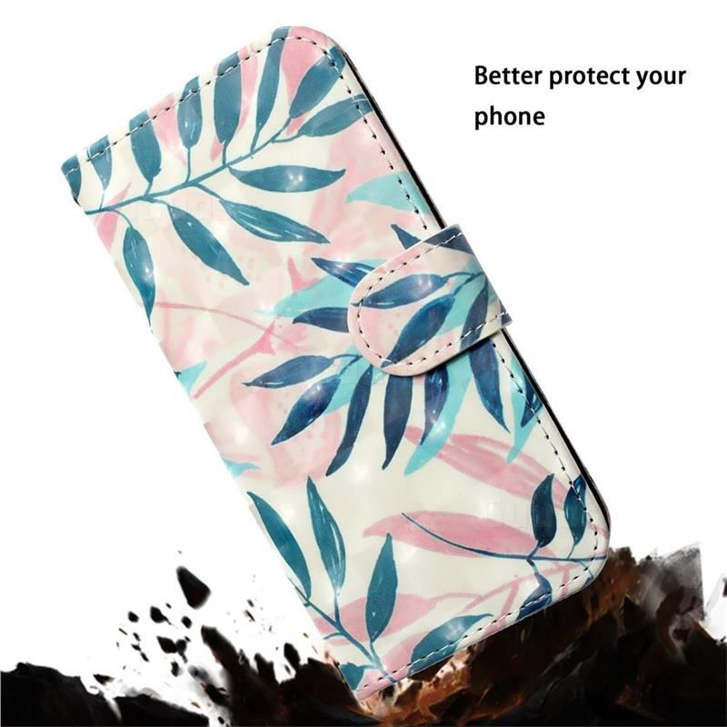 Green Leaf 3d Painted Leather Phone Wallet Case Cover For Samsung Galaxy A7 2018 A750 Galaxy A7 2018 Cases Guuds In 2021 Leather Phone Case Wallet Wallet Phone Case Wallet Case