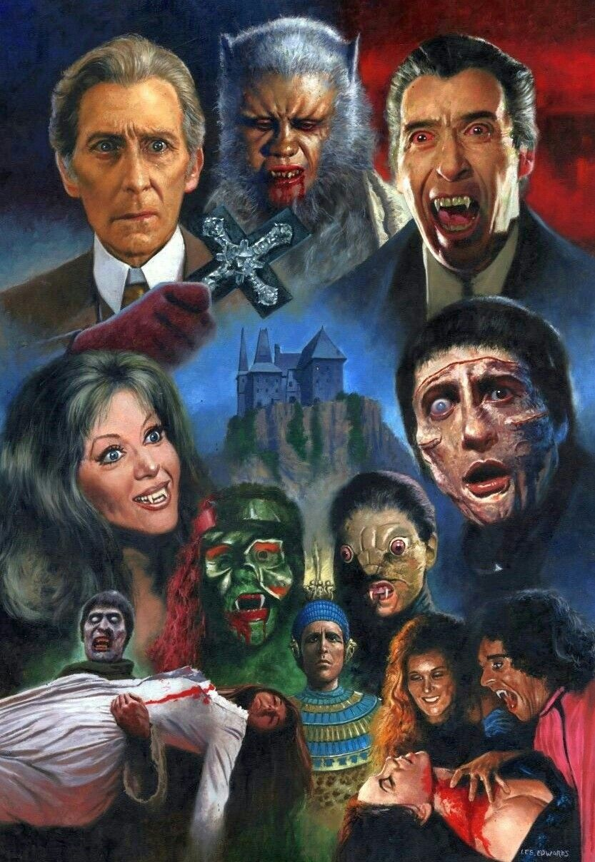 Hammer house of horror horror movie art classic horror