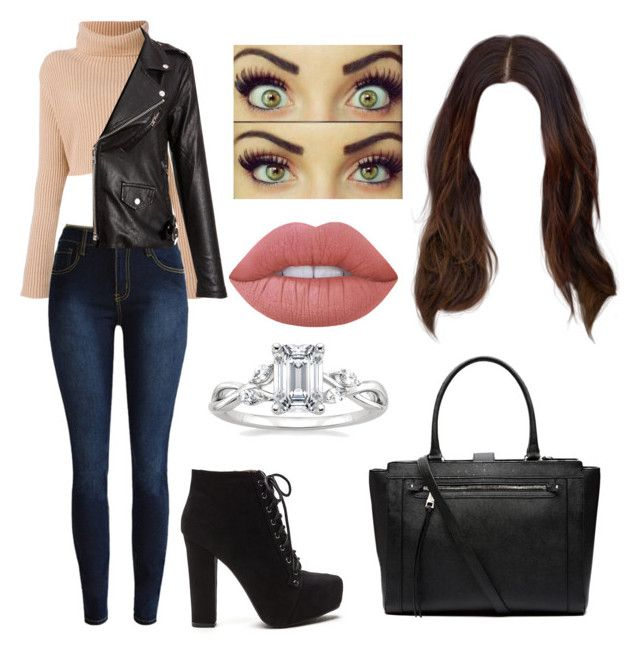 """""""NYC"""" by larisilva21 ❤ liked on Polyvore featuring Lime Crime and Witchery"""