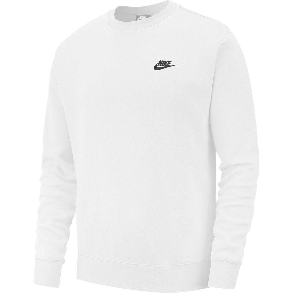 Men S Nike Club Fleece Crew Nike Clothes Mens White Nike Sweatshirt Nike Crewneck Sweatshirt [ 1000 x 1000 Pixel ]
