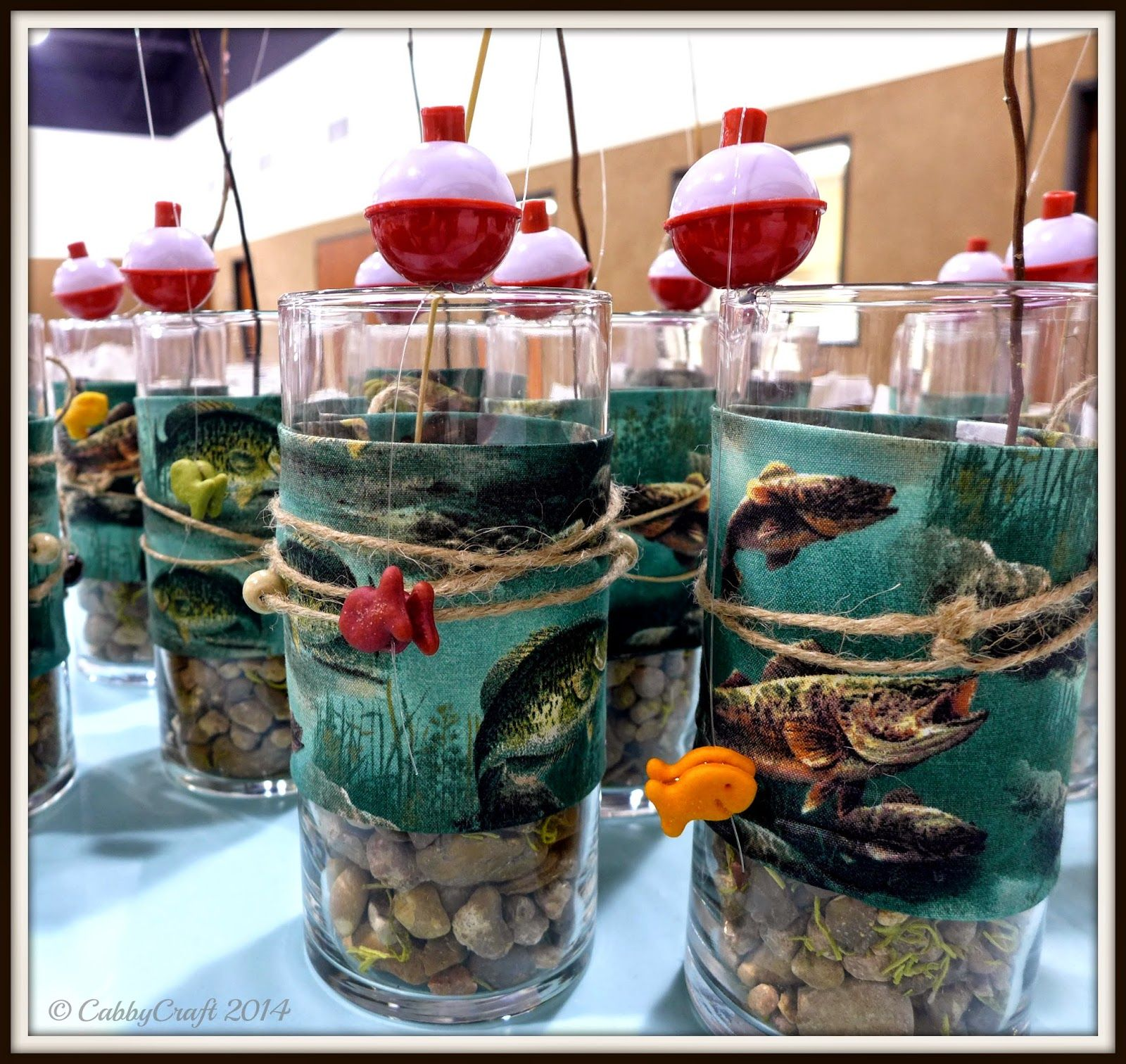 Fg 39 s birthday theme gone fishing these were the table for Fish wedding centerpieces