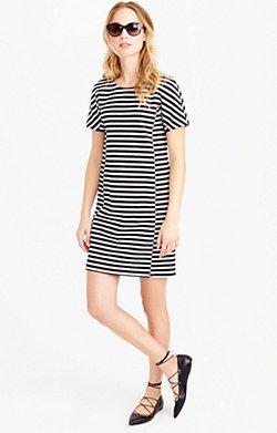 c42e41899704c Striped T-shirt dress   J.CREW   Striped t shirt dress, Dresses ...