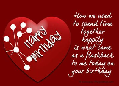 Heart touching birthday wishes for ex boyfriend girlfriend happy happy birthday ex wishes messages quotes and bday cards in this post you can look a great collection of happy birthday wishes for ex girlfriend or bookmarktalkfo Gallery