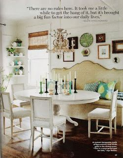Home with the Hills: Banquette Dining