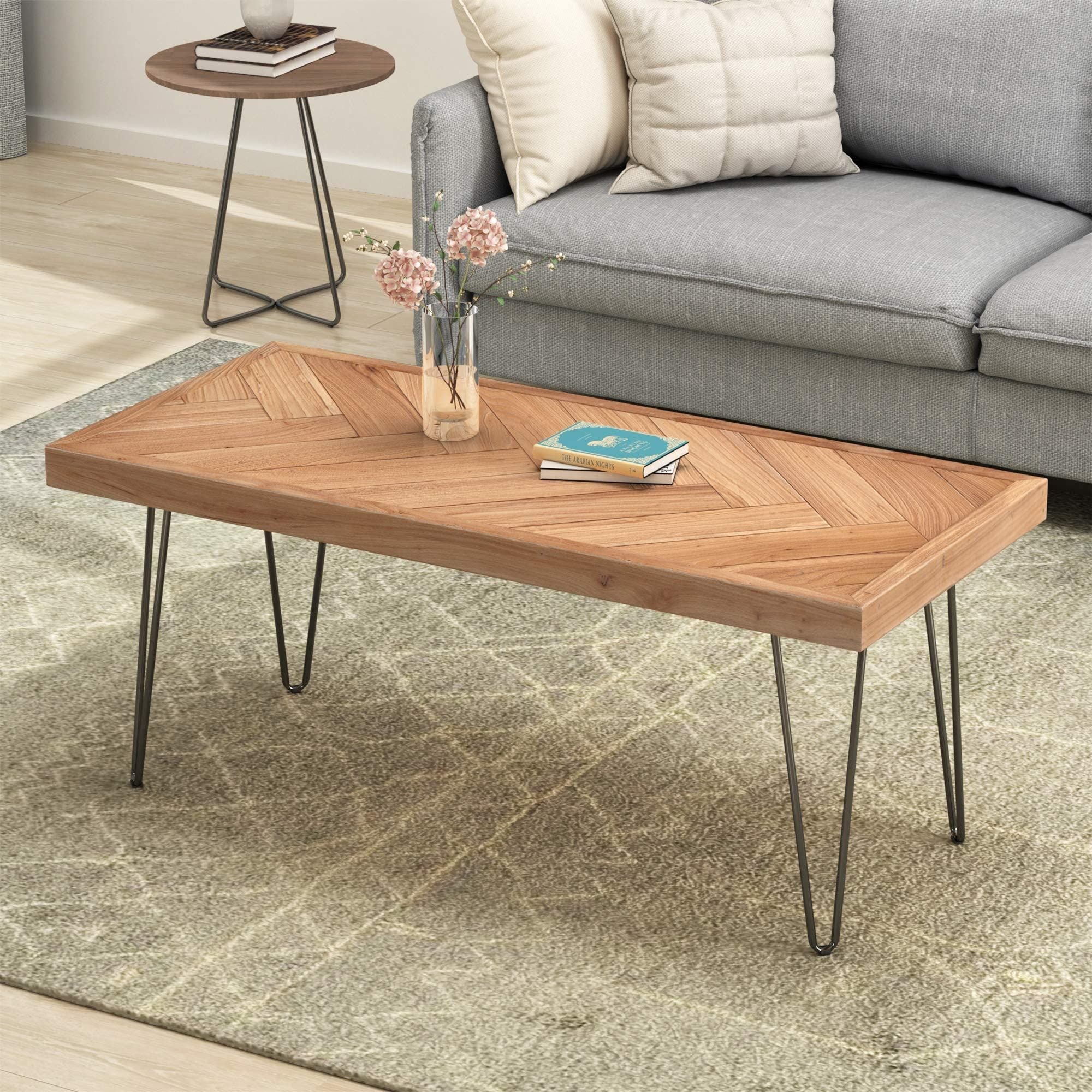 Amazon Com P Purlove Industrial Wood Coffee Table Nature Cocktail Table For Living Roo Modern Wood Coffee Table Coffee Table Wood Cocktail Tables Living Room [ 2000 x 2000 Pixel ]