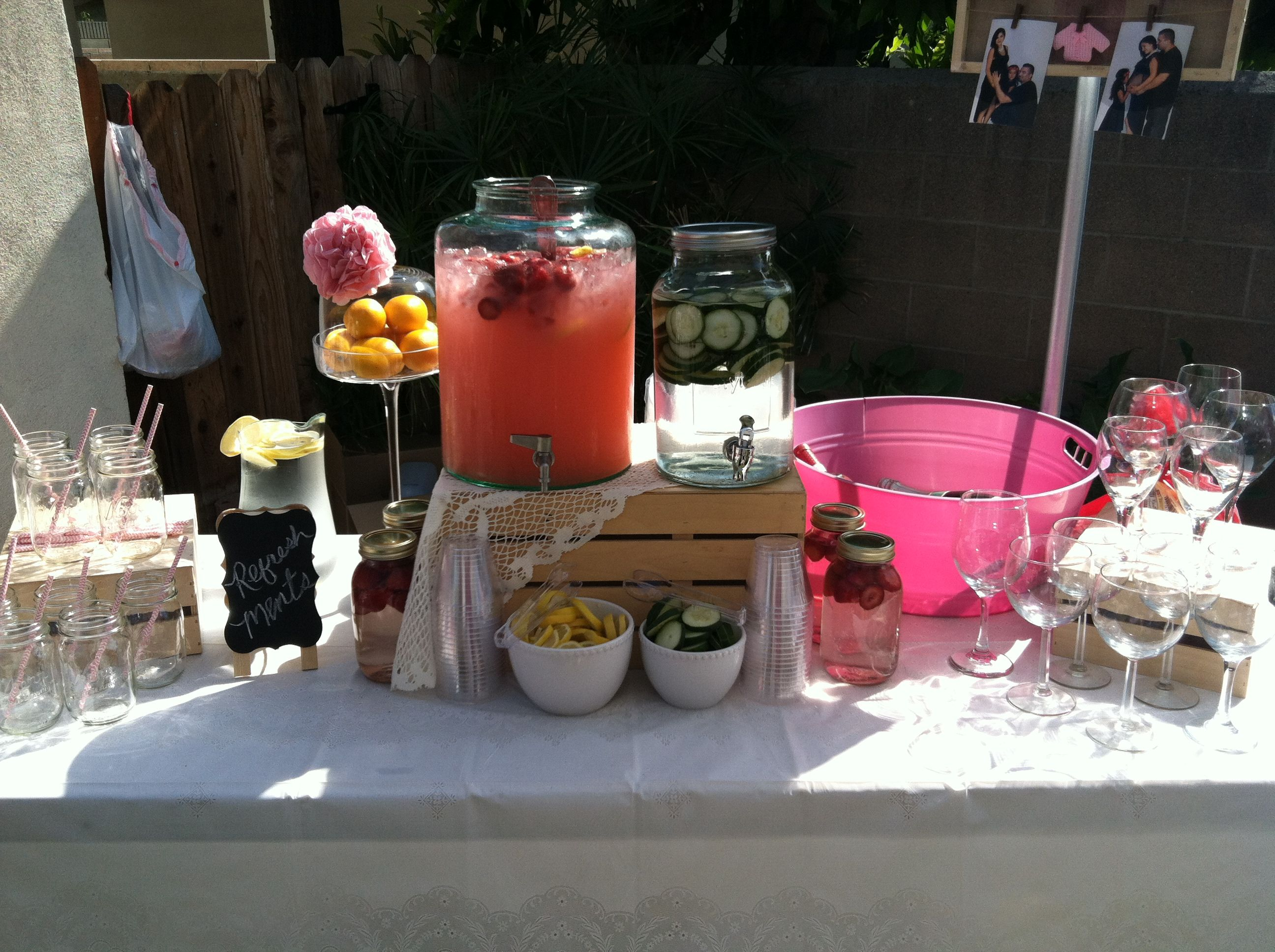 Shabby Chic Refreshment Table Shabby Chic Baby Shower Chic Baby Shower Refreshments Table