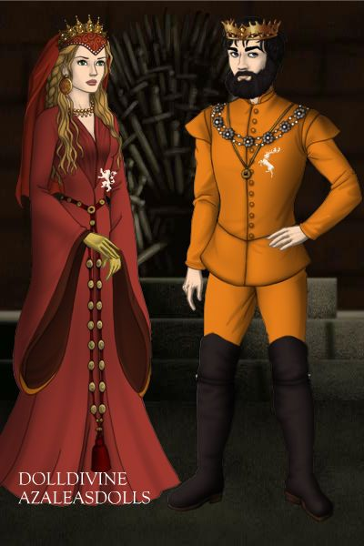 Baratheon Lannister Merger ~ by asharastark ~ created using the Game of Thrones doll maker | DollDivine.com
