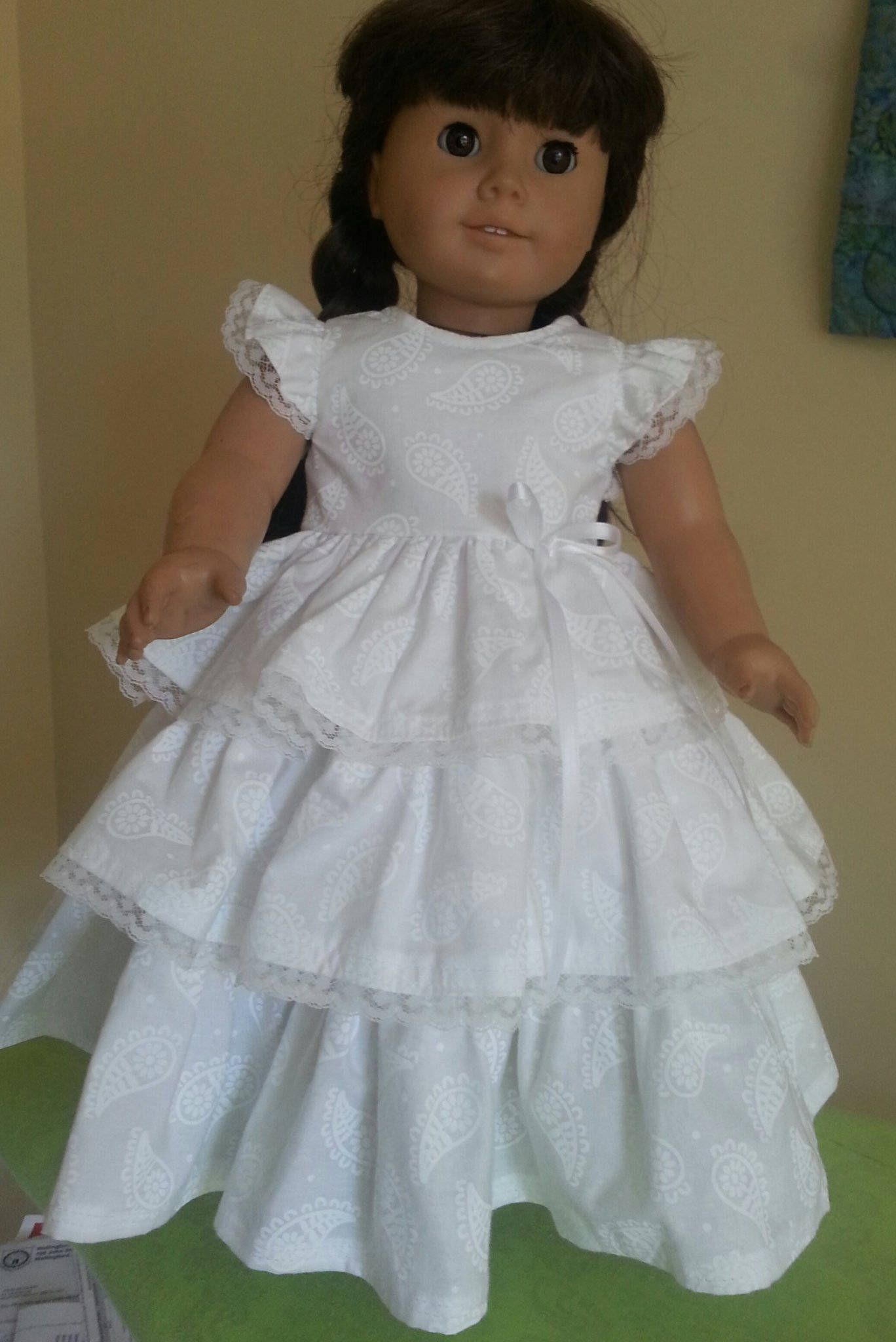 American girl doll floral ruffled dress free shipping by nmac on