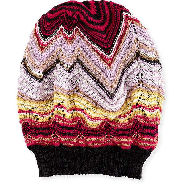 190eed89a08 Missoni Knit Zigzag Beanie ( 145) ❤ liked on Polyvore featuring accessories