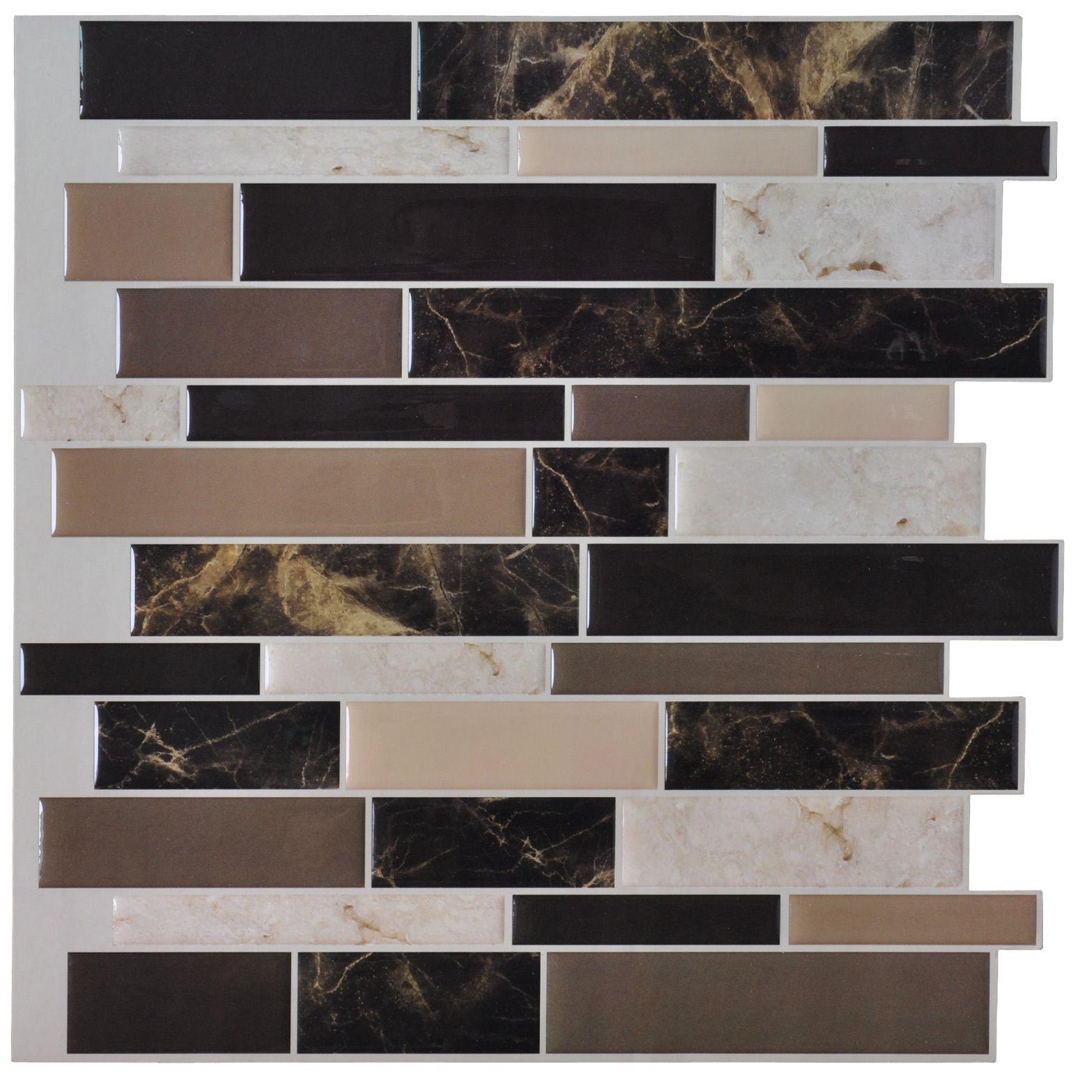 A Self Adhesive Backsplash Tiles for Kitchen 10 Pieces