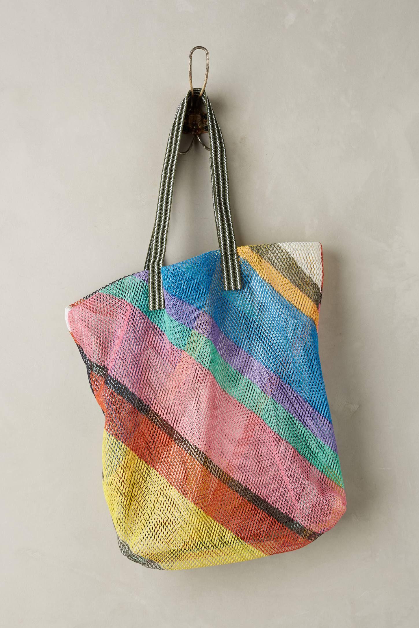 Emily Plaid Mesh Tote Tote, Bags, Fashion bags