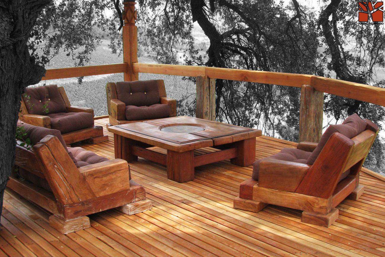 Nativo redwood terraza en vi a el principal de pirque for Dec para terrazas