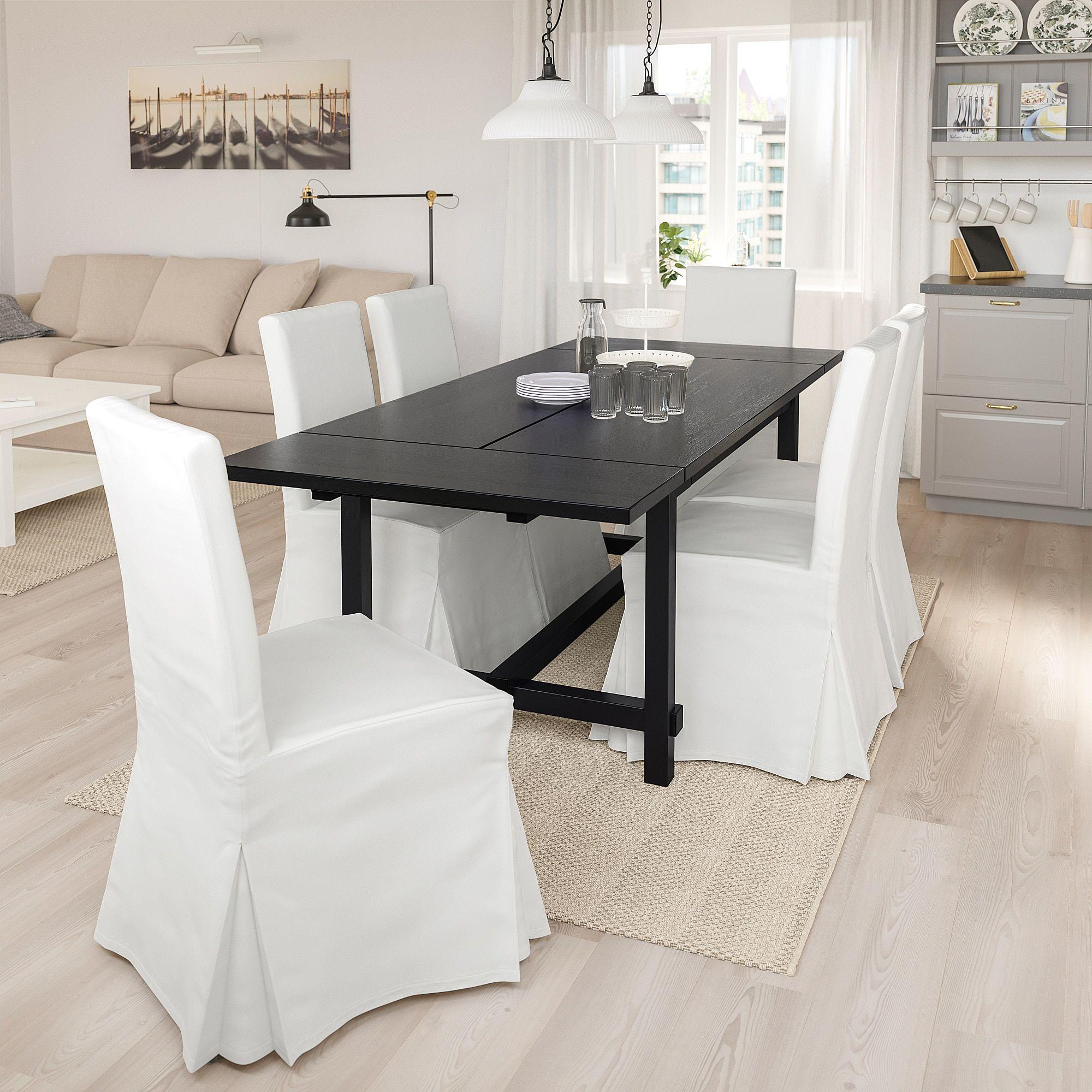 Nordviken Henriksdal Tisch Und 4 Stuhle Schwarz Blekinge Weiss