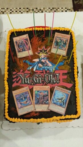 my son's 13th birthday cake! yu-gi-oh! yugioh! | fiction dessert