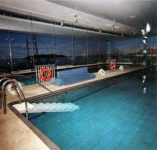 The Swimming Pool In 1963 With Mural Commissioned By Joe Kennedy Sr Note That This Wall Is Mirrored Opposite Has