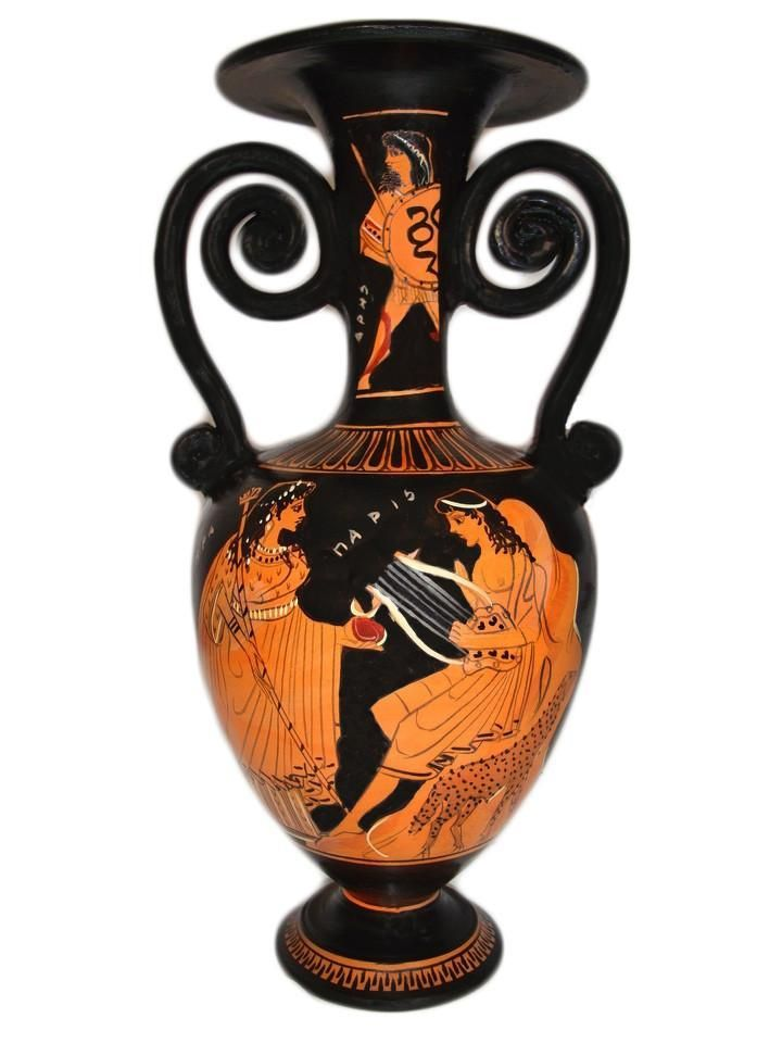 Ancient Greek Red Figure Vase The Judgement Of Paris With