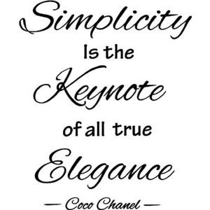 Coco Chanel Quote Simplicity Quotes Words Quotes